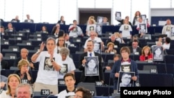 Ի պաշտպանություն Ադրբեջանի քաղբանտարկյալների ակցիա Եվրախորհրդարանում, 8-ը հունիսի, 2015թ․