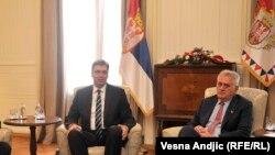 Presidenti i Serbisë Tomislav Nikoliq dhe kryeministri Aleksandar Vuçiq