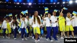 Збірна України на церемонії відкриття Олімпіади в Ріо у 2016 році