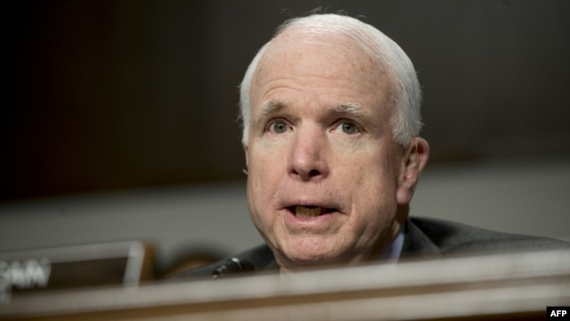 U.S.  Senator John McCain predicted Russia would press ahead with support for assault of the government of Syrian President Bashar al-Assad on the city of Aleppo.
