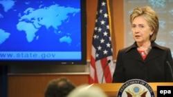 Хиллари Клинтон на пресс-конференции в Вашингтоне