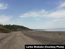 Берег Куйбышевского водохранилища. Весна 2019 года