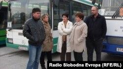 Архивска фотографија: Протест на школските превозници во Битола поради неплатен долг.