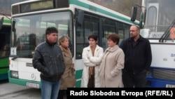 Штрајк на автобуските превозници во Битола на 22 ноември 2011 година.
