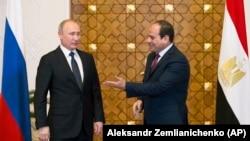 Владимир Путин и Абдель Фаттах аль-Сиси.