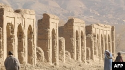 The old Afghan city of Bamiyan northwest of Kabul was on the old Silk Road, linking China to Central Asia and beyond.