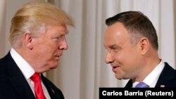 Presidenti amerikan, Donald Trump dhe homologu i tij polak, Andrzej Duda.