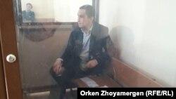 Нұрбек Құшақбаев сот залында. Астана, 3 сәуір 2017 жыл.