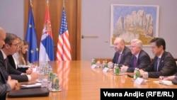 Sastanak Aleksandra Vučića i Brajana Hojta Jia