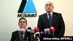 Azerbaijani opposition leaders Ali Kerimli (left) and Isa Qambar have parted ways. Will one of them come to regret it?