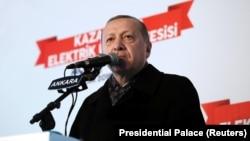 Президент Турции Реджеп ТайипЭрдоган. Анкара, 15 января 2018 года.