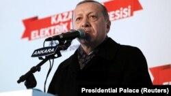 Режеп Ердоған, Түркия президенті. Анкара, 15 қаңтар 2018 жыл.