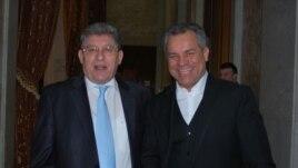Liderul liberal Mihai Ghimpu cu Vlad Plahotniuc