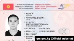 Водительское удостоверение нового образца.