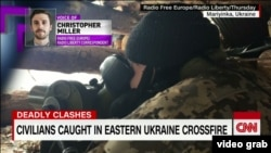 RFE/RL's Christopher Miller, during an interview with CNN's Jake Tapper about intensified warfare in eastern Ukraine.