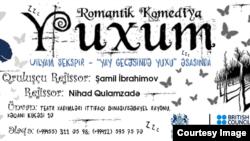 """ƏSA teatrının yeni tamaşasaı """"Yuxu""""nun posteri"""