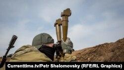 """Военные батальона """"Азов"""" ВС Украины на позициях около Широкино"""
