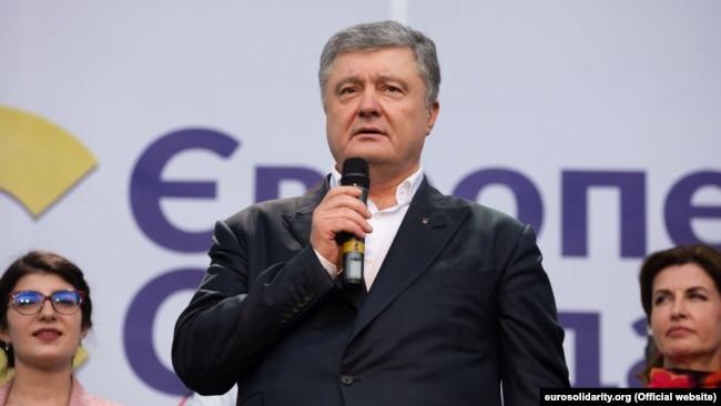 Експрезидент України, голова партії «Європейська солідарність» Петро Порошенко