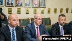 Përfaqësuesit e Listës Serbe, gjatë një takimi në Beograd me përfaqësues të Qeverisë serbe. 9 shtator, 2017