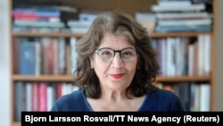 Iran-born Swedish author Jila Mossaed (file photo)