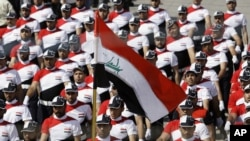 Моқтада әл-Садрдың қолдаушылары Бағдадта шеру өткізіп жатыр. 26 мамыр 2011 жыл.
