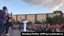 Алексей Навальный на митинге в Екатеринбурге, 16 сентября 2017