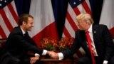 Prezidentler Donald Tramp we Emmanuel Makron, Nýu-Ýork, 18-nji sentýabr, 2017.