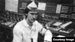 Олексій Бреус на 4-му блоці, 1984 рік (фото з газети «Молода гвардія»)