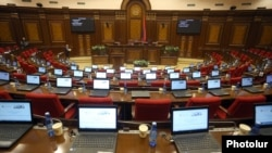 Armenia - Empty seats in the Armenian parliament, Yerevan, December 4, 2018.
