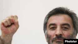 Armenia -- Opposition activist Samson Khachatrian is pictured during his trial, 19Apr2011