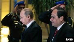 Русия президенты Владимир Путин (с) һәм Мисыр президенты Габдел Фәттах әс-Сиси