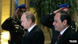 Владимир Путин и президент Египта Абдул-Фаттах Ас-Сиси в Каире.