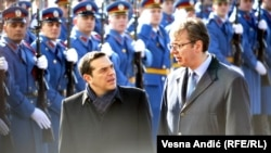 Grčki premijer Aleksis Cipras i premijer Srbije Aleksandar Vučić