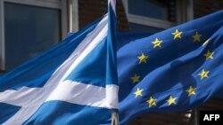 Zastava Škotske i EU
