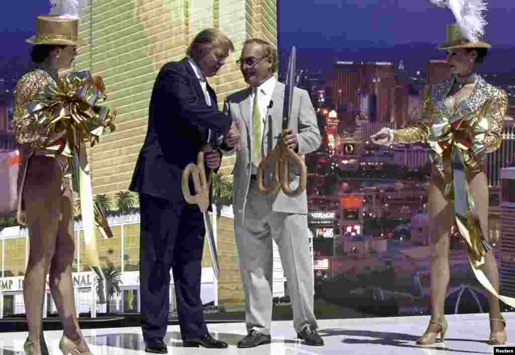 A groundbreaking ceremony for the Trump International Hotel and Tower Las Vegas in 2005, one of the businessman's luxury properties.