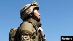 Казахстанский военнослужащий. Иллюстративное фото.