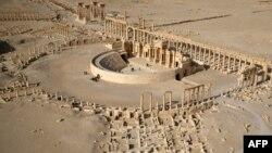 Сириядағы ежелгі Пальмира қаласының әуеден қарағандағы көрінісі. (Көрнекі сурет).