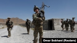 U.S. troops patrol at an Afghan National Army (ANA) base in Logar Province. (file photo)