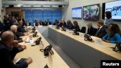 آنتونیو گوترش، دبیرکل سازمان ملل، در حال صحبت در نشست اینترنتی روز جمعه