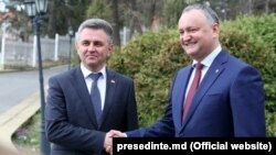 Igor Dodon cu Vadim Krasnoselski la Holercani
