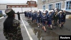 Заключенные женской исправительной колонии в российском Красноярске