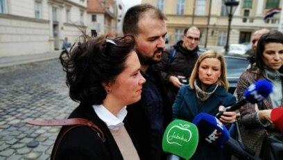 """Predsjednik i odvjetnica udruge """"Dugine obitelji"""", Danijel Martinović i Zrinka Bojanić"""