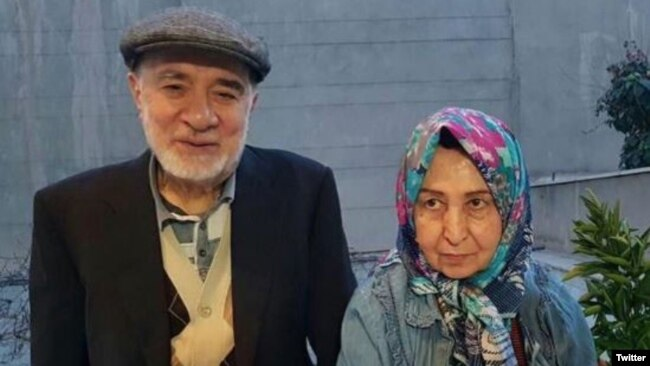 Former Iranian Prime Minister Mir Hossein Musavi and his wife, Zahra Rahnavard, have been kept under house arrest since 2011. (file photo)