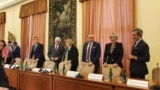 Memorandum signing between foreign ministers of Western Balkan countries and Visegrad group of countries