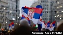 """Sa protesta """"1 od 5 miliona"""" u Beogradu, 6. april 2019."""