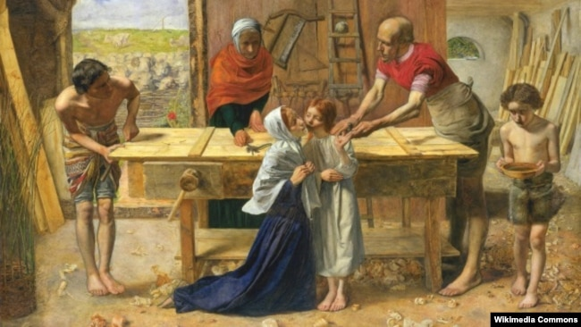 Джон Эвэрэт Міле «Хрыстос у доме сваіх бацькоў» (1850)