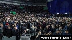 Митинг против нелегальных мигрантов в Якутске, 18 марта 2019 года.