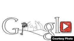 آرم گوگل به مناسبت هفتادمین سالگرد تولد جان لنون