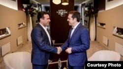 Премиерите на Македонија и на Грција, Зоран Заев и Алексис Ципрас
