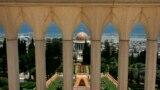نمایی از مقبره باب از امکان مقدس بهاییان در حیفا